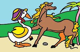 Конь и гусь