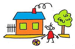 Мальчик перед домом
