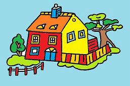 Дом с забором