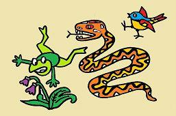 Змея и лягушка