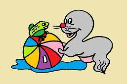 Тюлень и лягушка