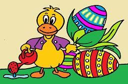 Дак и пасхальные яйца