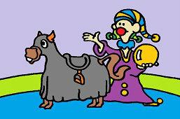 Клоун и лошадь