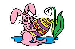 Кролик и окрашенoе яйцo