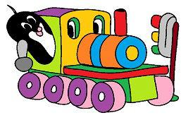Крот на поезде