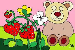 Медведь и клубники
