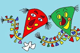 Счастливые воздушныe змеи
