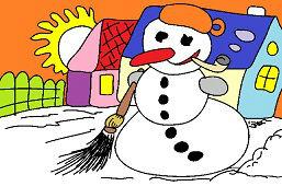 Снеговик с трубкой