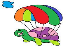 Черепаха с парашютом