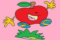 Счастливые яблоко