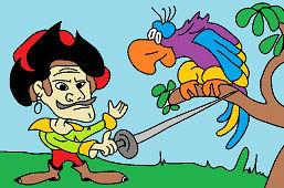 Пират и попугай