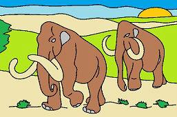 Огромные мамонты