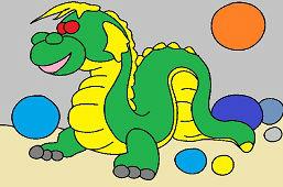 Симпатичный дракон