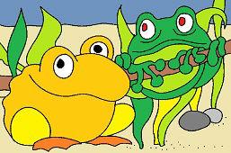 Две лягушки подружки