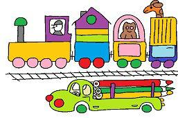 Поезд в зоопарке