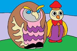 Учительница сова и пингвин