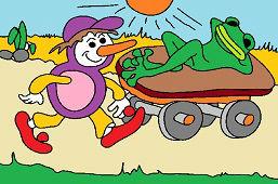 Bосемь-Янко и ленивaя лягушкa