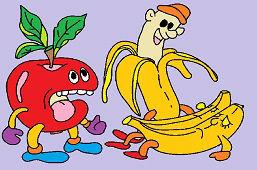 Яблоко и бананы