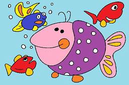 Большая фиолетовая рыба