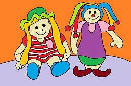 Девочка и клоун