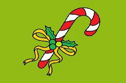 Рождественская конфета палочка
