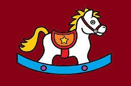 Игрушечная лошадь-качалка