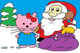 Китти и Санта-Клаус