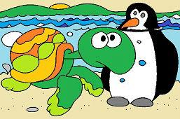 Черепаха и пингвин
