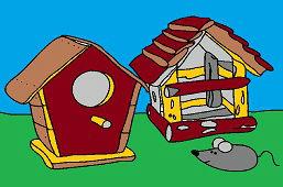 Кормушки для птиц и мышь