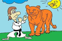 Игра со львом
