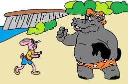 Заяц и бегемота