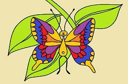 Бабочка с раздвоенным хвостом