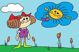 Катя и солнце