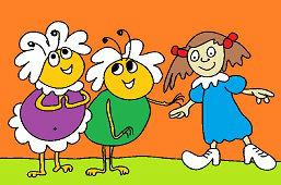 Пчёлы и девушка