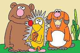 Медведь, Ёж и Cобака