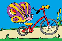 Бабочкa и велосипед