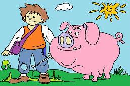Пастух и свинья