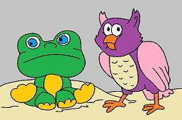 Лягушка и сова