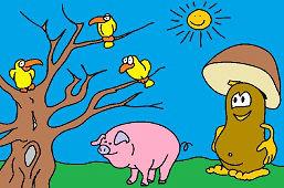 Гриб и свинья