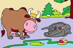 Корова и крокодил