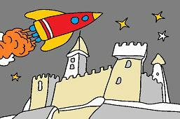 Шаттл над замком