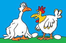 Гусь и курица