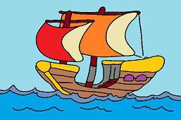Лодка по волнам