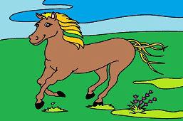 Конь коричневый