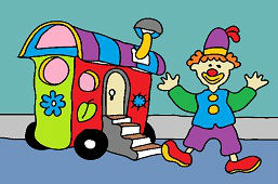 Клоун и караван