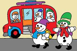 Автобус для снеговиков