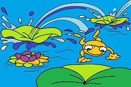 Лягушка прыжок