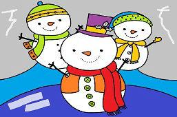 Три снеговики