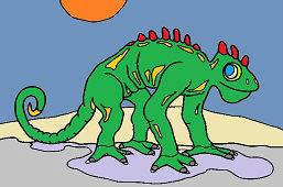 Доисторический ящер