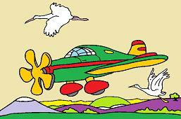 Самолет и аисты